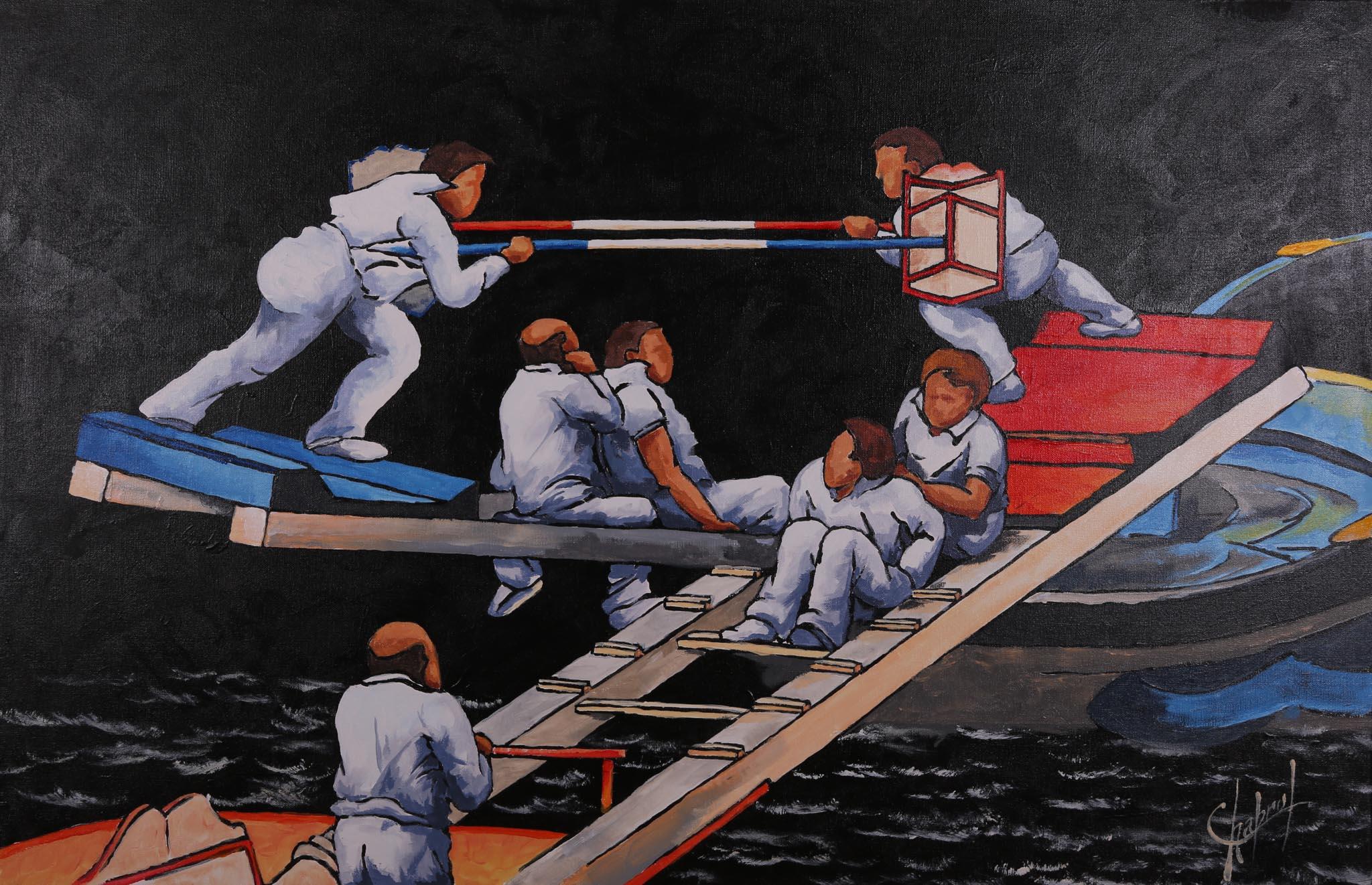 Jean-Claude Chabrol,tableau,peinture